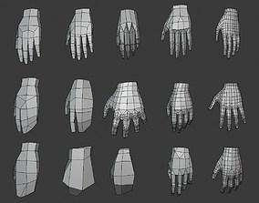 3D asset LP Hands base mesh