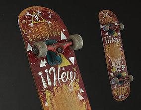 Skateboard 3D model realtime