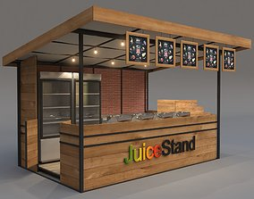 3D model Juice Stand For Outdoor And Indoor Shopping Malls
