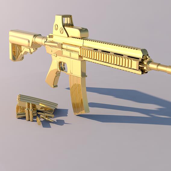 Golden weapon