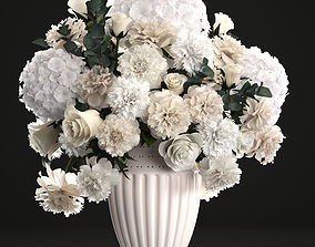 Bouquet of wthite flowers 3D model