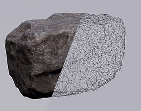 low-poly 3D ROCK LOWPOLLY