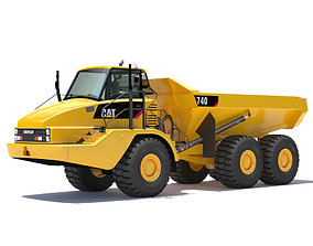 Articulated Dump Truck vehicle 3D