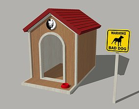 3D model low-poly Dog House