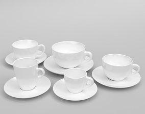Verona coffee cup set Blender Cycles 3D