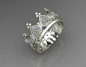 Crown 2 ring 3D printable model
