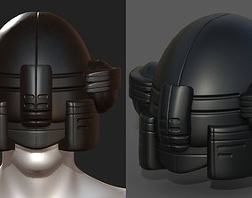 VR / AR ready Helmet scifi military combat 3d