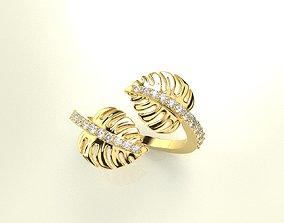 3D printable model Palm leaf ring