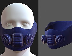 VR / AR ready Gas mask helmet 3d model scifi 1