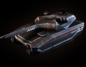 3D asset PL-01 Concept Tank