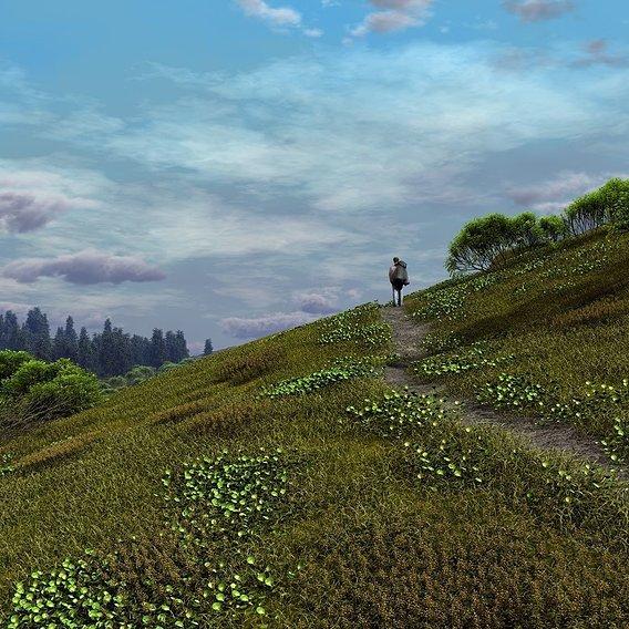 Footpath uphill