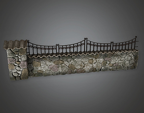 Outdoor Fence 24 GFS - PBR Game Ready 3D model