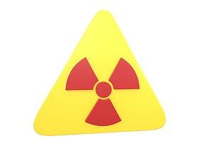 Radiation Symbol v2 002 3D asset