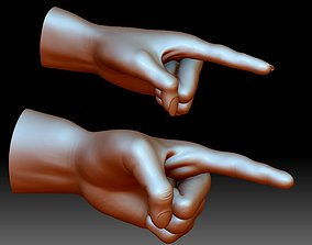 Hand point gesture STL file 3D printable model male 1