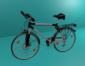 3D model Touring Bicycle