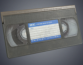 Video cassette retro 3D model low-poly