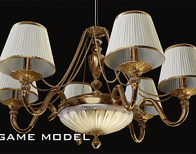 Classic Chandelier 4 Game Model 3D asset