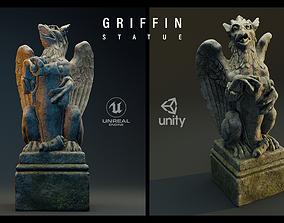 3D model VR / AR ready Griffin Statue 4K PBR