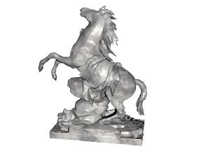 Marly Statue Sculpture - Louvre Museum 2020 3D model