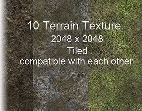 3D model 2k Terrain Texture Pack tiled