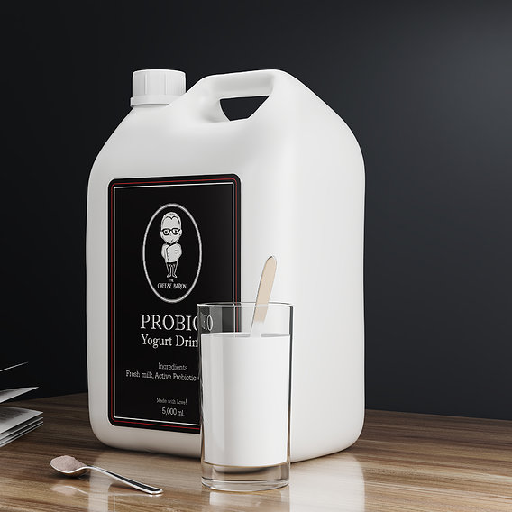 5000 ml Pasteurized Milk Bottle