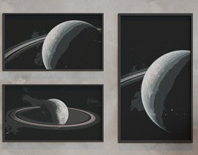 Art Picture Lowpoly 3D Model pictures planet game-ready