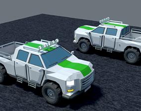 Pickup 3D model animated
