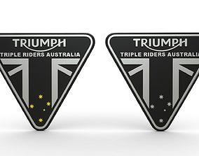 3D model Triumph logo AUS