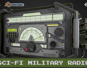 Sci-Fi Military Radio 3D asset