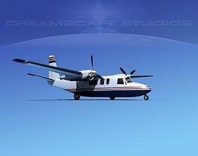 3D model Rockwell Turbo Commander 690 V14
