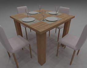 Dining Table family 3D model