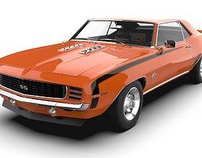 Chevrolet Camaro 1969 SS 3D model