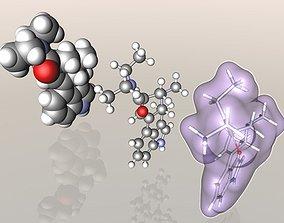LSD Lysergic acid diethylamide molecule 3D model