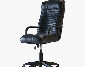 Leather office chair 3D asset