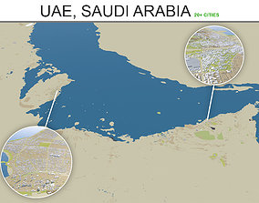 UAE - Saudi Arabia - Kuwait - Oman - Gulf 3D asset 1