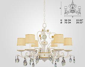 3D model Masiero 9020 6 chandelier