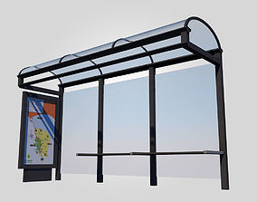 stop Bus Stop 3D model game-ready