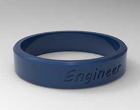 3D print model Engineer Ring Blue