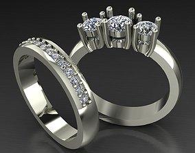 3D printable model engagement ring promise