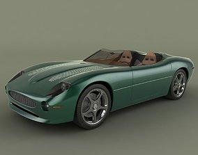 3D Jaguar XK 180 Concept