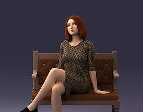 girl on a bench 0618 3D print ready figurine