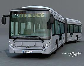 3D model Heuillez GX427 articulated city bus