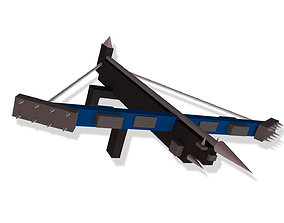 3D asset Low Poly Crossbow