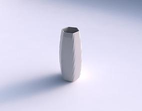 Vase hexagon with uniform polygons 3D print model