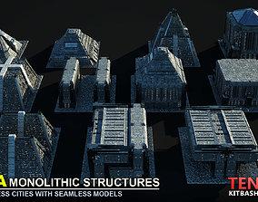 MEGA MONOLITHIC STRUCTURES SCI-FI KITBASH 3D model
