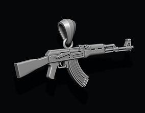 AK 74 gun pendant 3D printable model