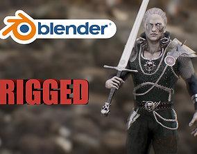 necromancer 3D asset rigged