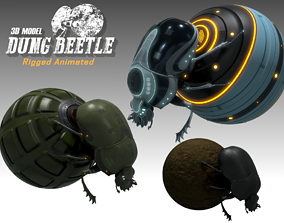 Dung Beetle 3D model animated