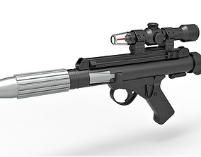 Blaster pistol DH-17 from Star Wars A New Hope 3D