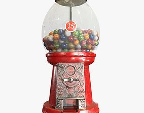 Gumball Machine Game Ready PBR Textures 3D asset